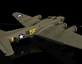 3D model Boeing B17 G Flying Fortress Memphis Belle