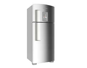 3D Refrigerator Brastemp Ative Stainless Steal