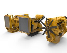 fuel 3D model Diesel Engine