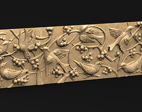 Decorative Panel Birds 3D model