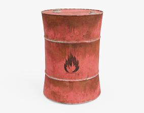 Oil Barrel 3D asset realtime PBR