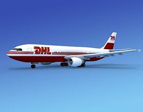 Airbus A300 DHL Cargo 1 3D model