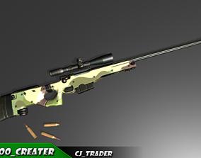 AWM-Sniper Riffle 3d model realtime