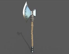 3D model game-ready melee Battle Axe