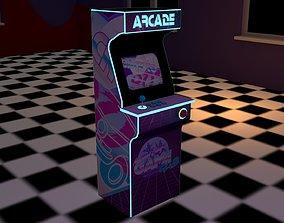 3D model Lowpoly arcade machine