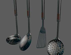 kitchen utensils basic set 3D model