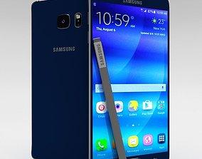 3D model Samsung Galaxy Note 5 Black Sapphire