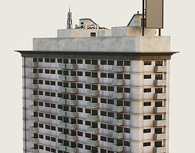 3D asset Building Skyscraper City Town Downtown Office 3