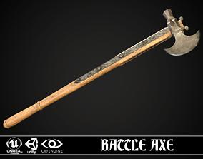 Battle Axe 01 3D asset VR / AR ready