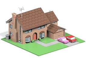 3D model The Simpsons House
