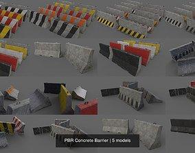 PBR Concrete Barrier 3D