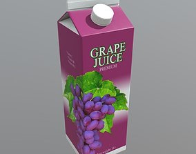 3D asset Grape Juice