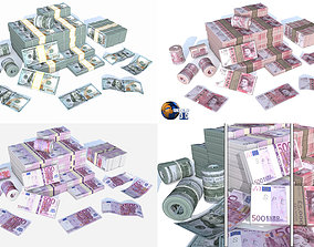 Lowpoly Money Currency Collection Pack 3d