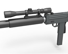 Submachine gun from the movie Escape from New 3D model 1