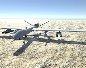 Low Poly MQ-9 Reaper UAV Drone 3D asset