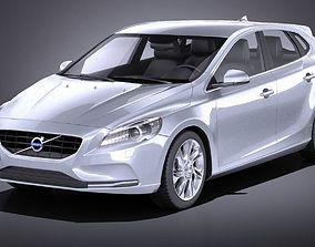 Volvo V40 2013 VRAY 3D model