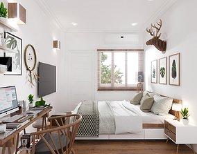 animated storage bedroom design 3d model