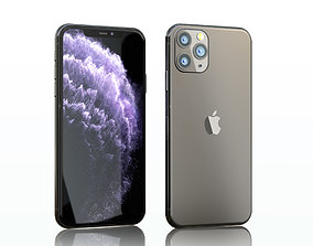 Iphone 11 pro max space gray 3D