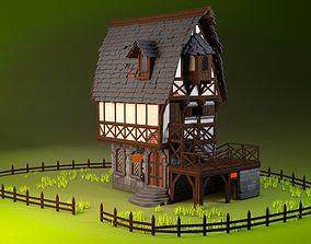 Medieval House over Tavern 3D model