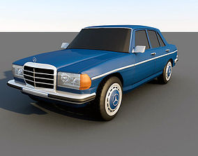 3D asset Mercedes-Benz 200 240 1976