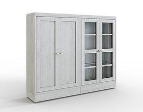 HAVSTA Storage combination w glass doors gray 3D asset