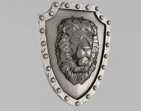 3D printable model Shield with a lion