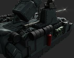 3D asset Sci-fi Tank