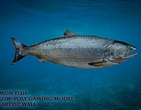 game-ready Salmon Fish Lowpoly 3D Gaming model