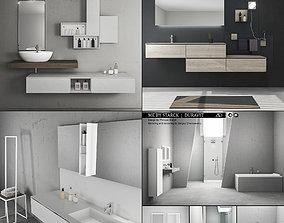 3D model Bathroom furniture collection 3