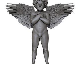 Angel 3D printable model boy