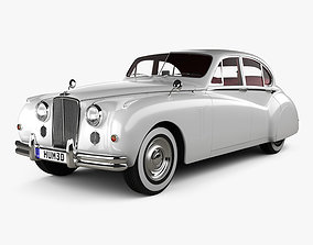3D model Jaguar Mark VII with HQ interior 1951