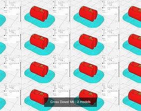 3D model Cross Dowel M6