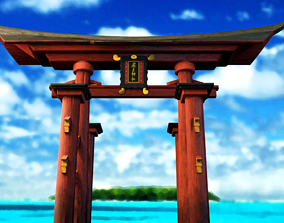 3D Itsukushima Tori Gate