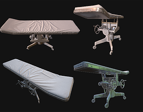 Operating Table WWII 3D asset