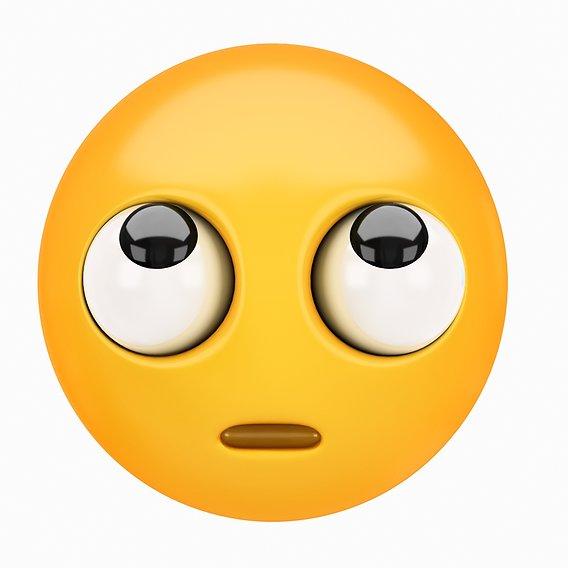 Emoji Hugging Face 3D model