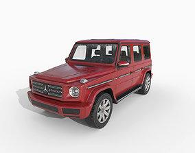 Low Poly Car - Mercedes Benz G-Class 2019 Red 3D asset
