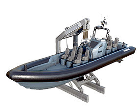 MILITARY INFLATABLE BOAT 3D asset