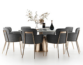 canteen Modern dining table and chair 3D model