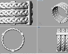 Rope Ring 3D printable model patern