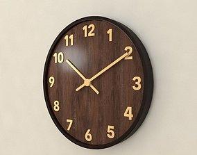3D Wood wall clock