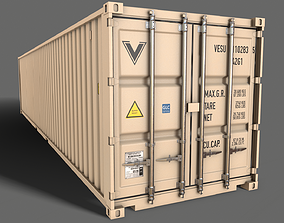 3D model PBR 40 ft Shipping Cargo Container -