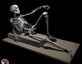 Male and Female Skeleton poseable 3D print model