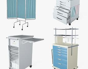 3D model Medical Supply Cart 3 in 1