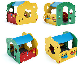 3D Toddler flower house Kompan