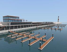 3D model Yacht Dock