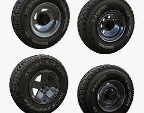 Highpoly offroad wheels 3D model