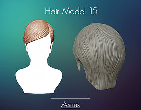 Hairstyle 15 3D printable model