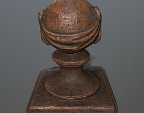 3D asset VR / AR ready ornamental stone