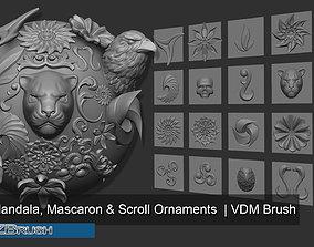 3D Zbrush VDM Ornaments Mandalas and Mascaron Brush