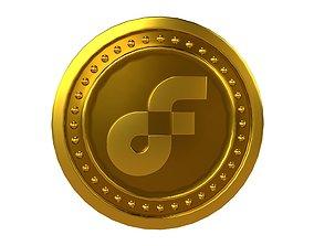 Flow Coin v4 001 3D asset